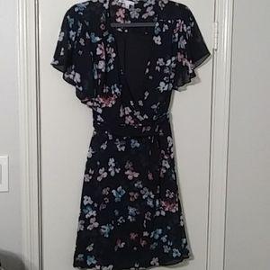 Daniel Rainn DR2 Blue Floral Dress M Skirt